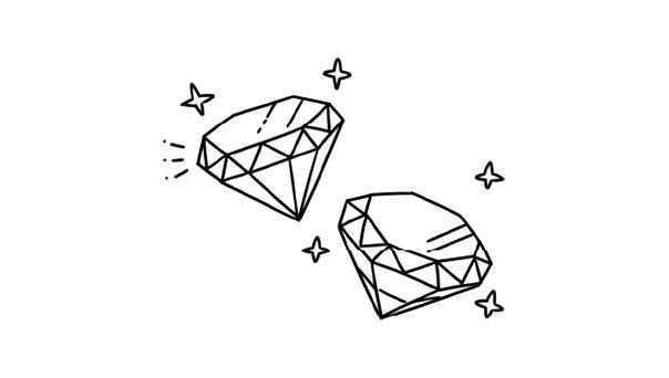 ダイヤモンドを選ぶ