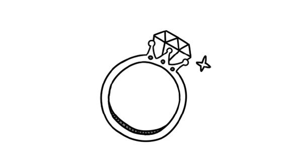 ダイヤモンドを留める
