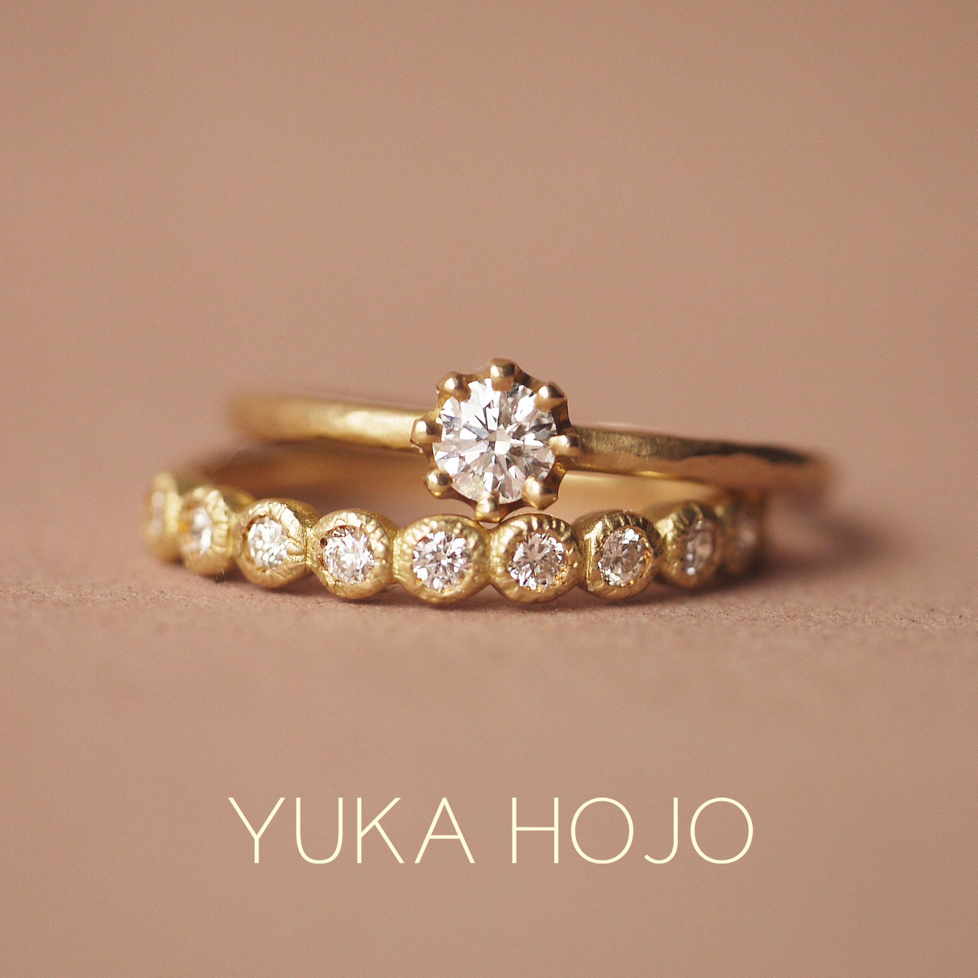 YUKAHOJOユカホウジョウの婚約指輪と結婚指輪