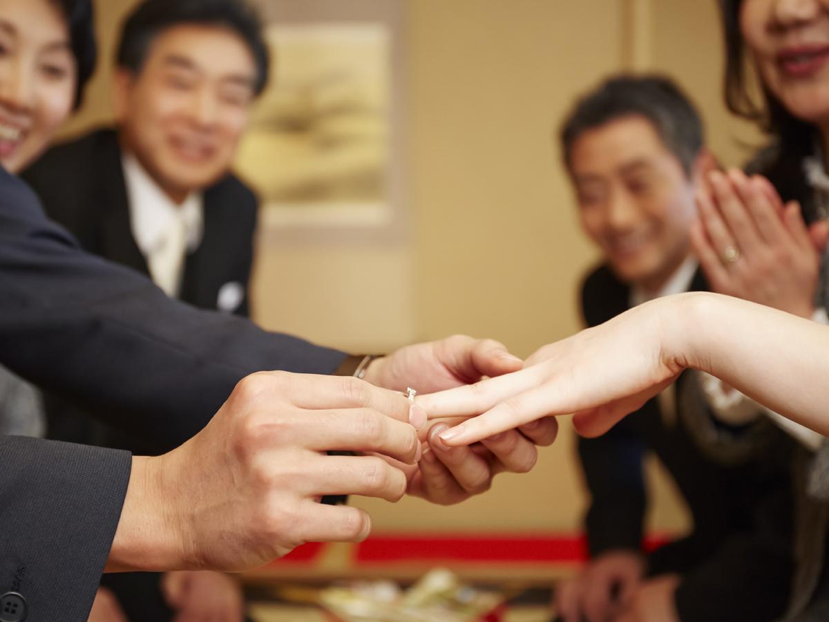 ヴァニラ福山本店とヴァニラ広島店の婚約指輪のエンゲージリングでご結納