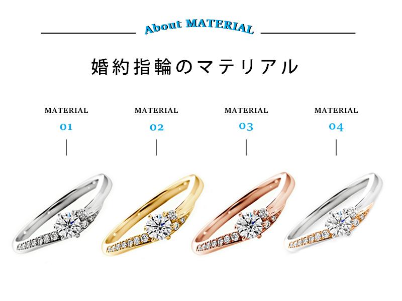 広島県広島広島市福山福山市のVANillAヴァニラの婚約指輪でエンゲージリングの金属マテリアルについて