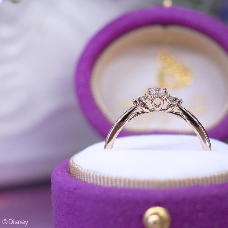 Disneyラプンツェルの婚約指輪でエンゲージリングのOneWish