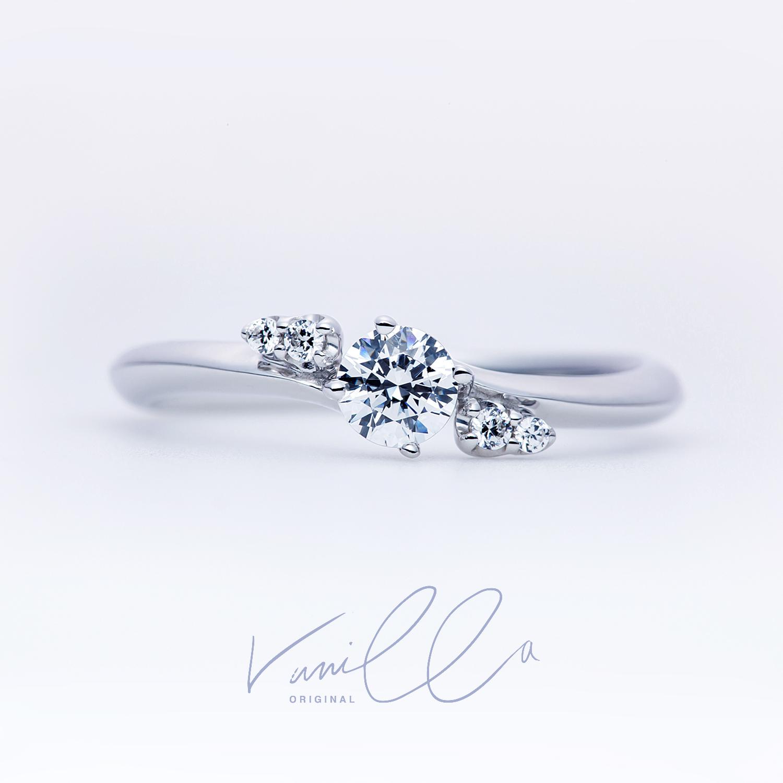広島県広島広島市福山福山市のVANillAヴァニラの婚約指輪でエンゲージリングのVANillAORiGiNAlアイリス