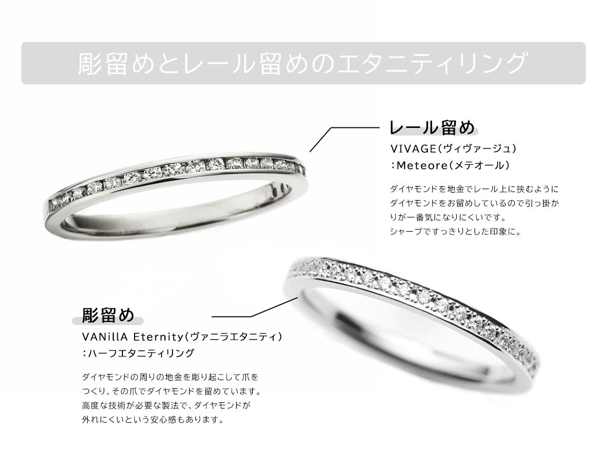 広島県広島市と広島県福山市にある中国エリア最大級の品揃えを誇るVANillA・ヴァニラ・バニラの婚約指輪と結婚指輪のエタニティリング