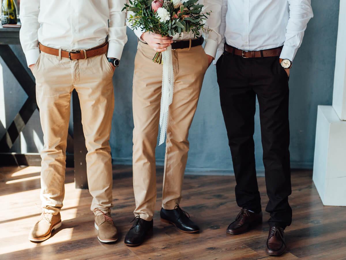 ファッションが被っていない3人組