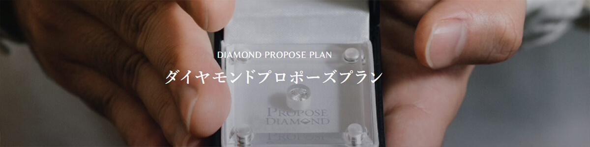 広島県広島市と広島県福山市にあるセレクトジュエリーショップヴァニラのダイヤモンドプロポーズプランの紹介